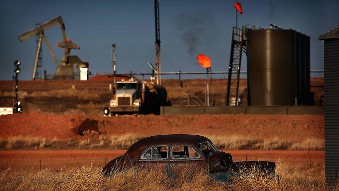 Die kostensive Ölförderung in den USA ist durch den niedrigen Ölpreis besonders unter Druck geraten.