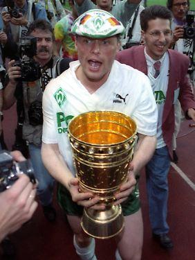 Pokalsieger: Mit Werder Bremen gewann Borowka 1991 dann den Titel.