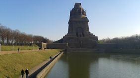 Das Völkerschlachtdenkmal wurde 1913 eingeweiht.