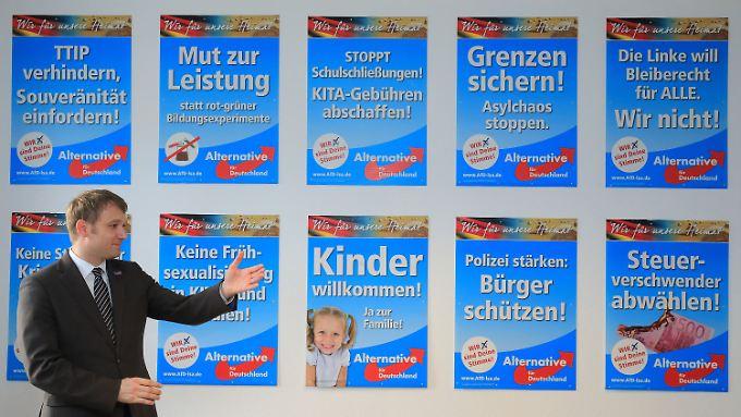 Kontinuität oder Politikwechsel? Und wie stark wird die AfD? Dies sind die Kernfragen bei der Landtagswahl in Sachsen-Anhalt am 13. März. (Im Bild: André Poggenburg, AfD-Landeschef)