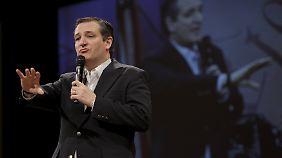 Ted Cruz ist texanischer Senator und steht der Tea-Party-Bewegung nahe.