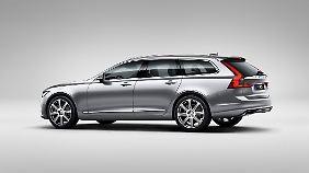 Die Basis für den Volvo V90 liefert der XC90.