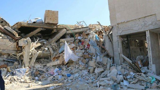 Eins der 50 zerstörten Krankenhäuser in Nordsyrien.