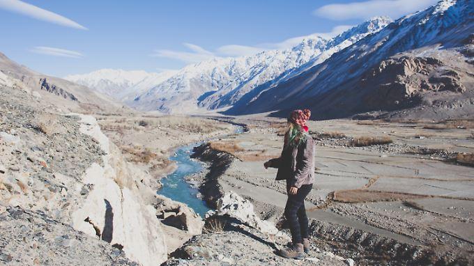 Yvonne Zagermann auf ihrer Reise in  Tadschikistan - für sie ein ganz besonderer Ort.