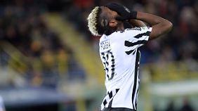 Torlos in Bologna: Paul Pogba und Juventus Turin.
