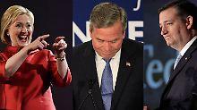 Rennen um das Weiße Haus: Clinton lacht wieder - Cruz und Bush nicht