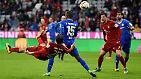 """Nach dem Spiel der Darmstädter Lilien beim FC Bayern München gibt es nur ein Gesprächsthema: Thomas Müllers Fallrückziehertor zum zwischenzeitlichen 2:1. """"Dass das Tor schön war, wissen wir alle."""" Der Weltmeister, ganz bescheiden."""