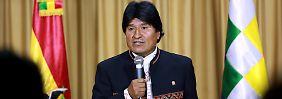 Will am liebsten bis 2025 regieren: Boliviens Präsident Evo Morales