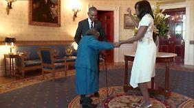 Gute Laune im Weißen Haus: 106-Jährige tanzt mit den Obamas