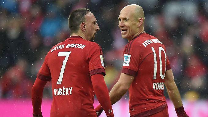 Auf der Suche nach Tanzpartnern: Franck Ribéry und Arjen Robben.