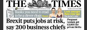 Offener Brief in Großbritannien: 200 Firmen-Chefs werben für EU-Verbleib