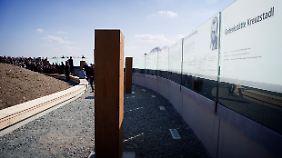 Beim Kreuzstadl in Rechnitz erinnert eine Gedenkstätte an die 180 ermordeten Juden.