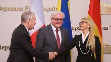 Außenminister auf Ukraine-Visite: Steinmeier fordert Ende der Grabenkämpfe
