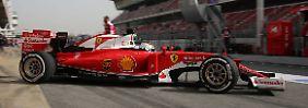 Erstes Kräftemessen in Barcelona: Vettel bestimmt Testfahrten, Rosberg kreiselt