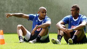 Der junge Kevin-Prince Boateng 2007 mit Bruder Jerome, damals noch bei Hertha.