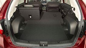 Der Kofferraum bietet zwischen 380 und 1270 Liter Stauraum.