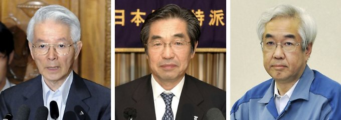 V.l.n.r.: Tsunehisa Katsumata, Ichiro Takekuro und Sakae Muto.