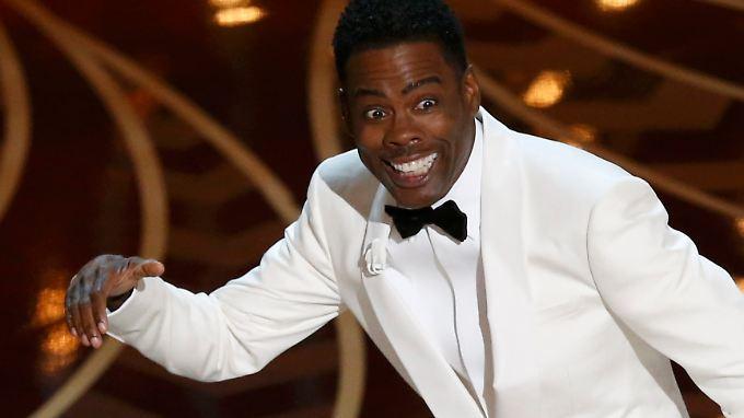 Dezent im weißen Smoking: Chris Rock beherrschte die Oscar-Show.