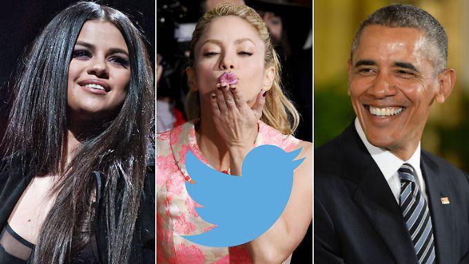 Waren Teil der Untersuchung: Selena Gomez, Shakira und Barack Obama (v.l.n.r.).