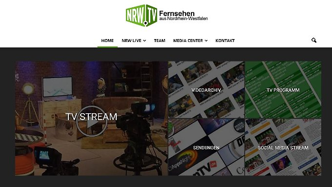 Nur über Kabel oder online im Netz: NRW.TV sendet nur für Nordrhein-Westfalen.