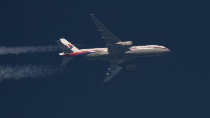 Aufnahme der verschwundenen Boeing 777 vom Februar 2014.
