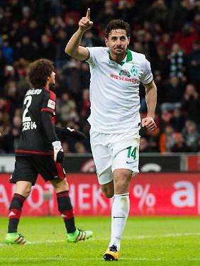Er kann es immer noch: Werders Claudio Pizarro.