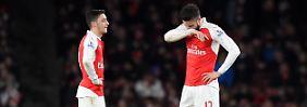 Hatten einen eher mäßigen Abend: Özil und Giroud