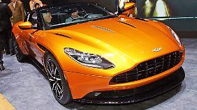 Dauerhaft von Journalisten umlagert: der neue Aston Martin DB11.