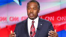 Ausstieg aus Präsidenten-Rennen: Republikaner Carson wirft wohl das Handtuch