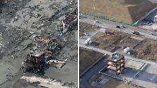 Als der Tsunami das Katastrophenschutzzentrum in Minamisanriku zerstört, überleben nur zehn Menschen - ob das Stahlgerippe erhalten bleibt ist noch unklar.