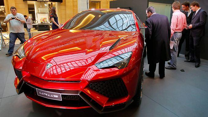Unverkennbar ein Lamborghini: Der Urus, hier 2012 als Designstudie bei einer Automesse in Moskau.