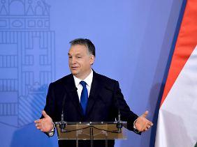 Ungarns Ministerpräsident Viktor Orban begrüßte Trumps Wahlsieg euphorisch.