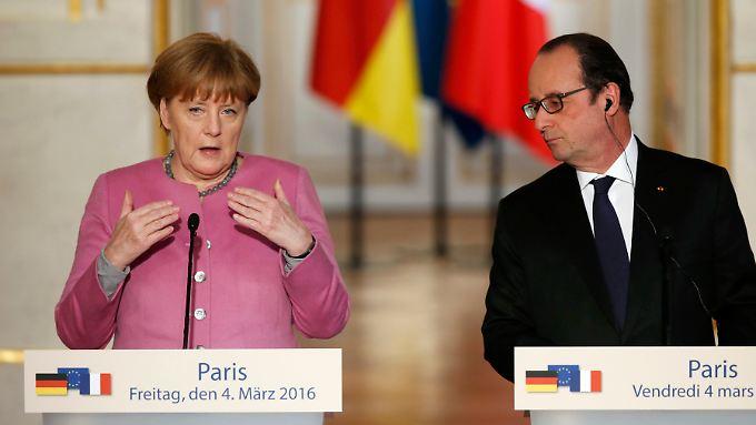 Merkel und Hollande haben ihr Vorgehen miteinander abgestimmt.