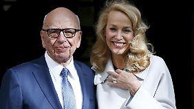 Das glückliche Paar: Rupert Murdoch und Jerry Hall.