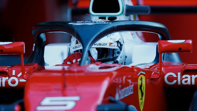 """Vettel testete das neue """"Halo""""-Sicherheitssystem, von dem nicht alle Fahrer begeistert sind."""