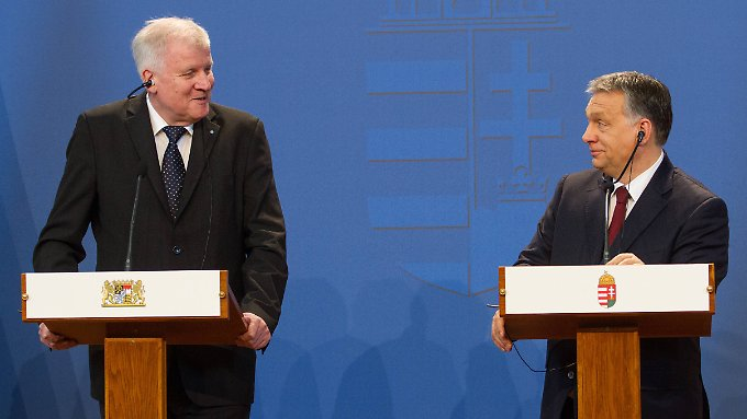 Umstrittenes Treffen mit Orban: CDU: Seehofer sabotiert Merkels Flüchtlingskurs