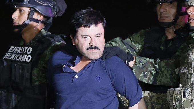 """Anfang Januar wurde """"El Chapo"""" erneut von den Behörden gefasst."""
