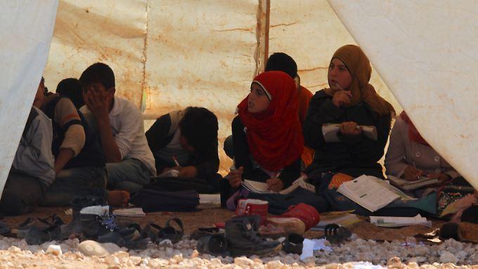 Flüchtlinge in der Provinz Idlib