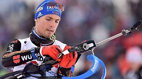 Simon Schempp schoss einmal daneben. Ein Medaille war damit nicht mehr zu gewinnen.
