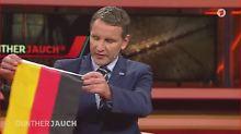 """Höcke am 18.10.2015 während der Talksendung """"Günther Jauch"""". Thema war """"Pöbeln, hetzen, drohen - wird der Hass gesellschaftsfähig?""""."""