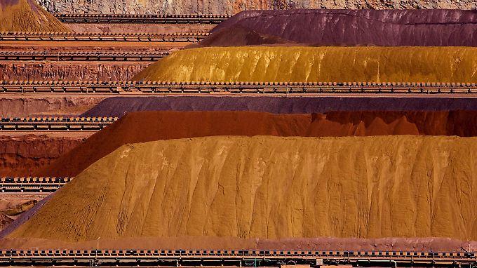 Eisenerzberge von Rio Tinto in Parker Point, Westaustralien.