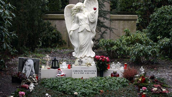 Das Grab der 2011 verstorbenen Carolin Wosnitza.