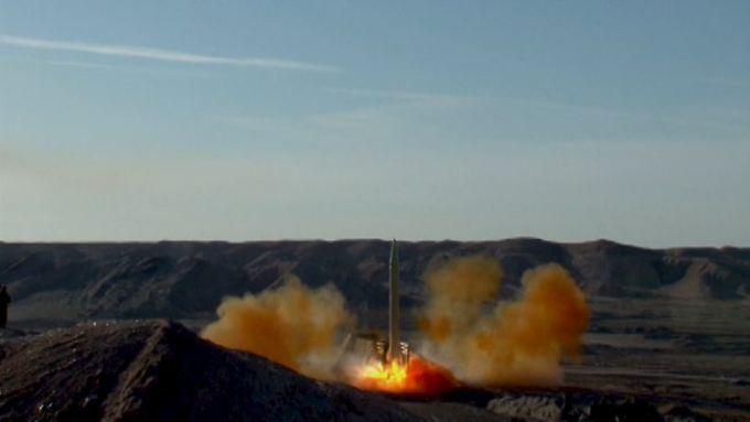 Das Bild zeigt laut der iranischen Revolutionsgarde einen der Raketentests.