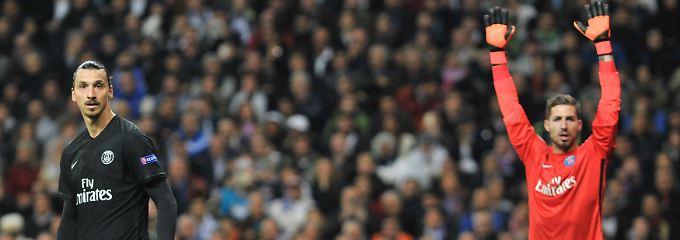 Im Fokus: der deutsche Torhüter Kevin Trapp und Schwedens Superstar Zlatan Ibrahimovic.