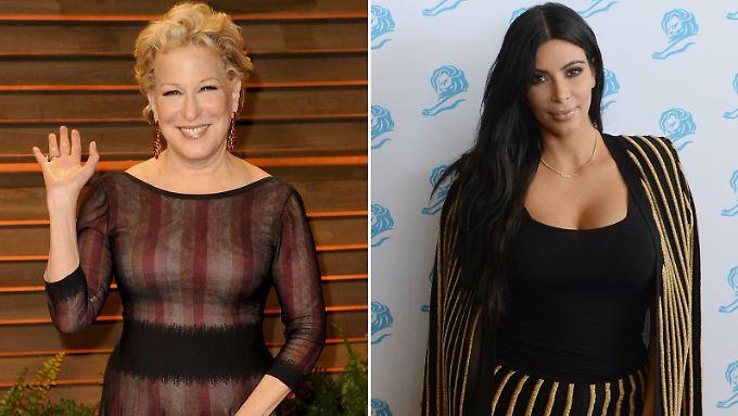 Da haben sich mal zwei gefunden: Bette Midler (l.) und Kim Kardashian.