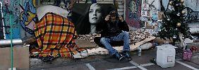 Während der Schuldenkrise haben viele Griechen ihre Obdach verloren.