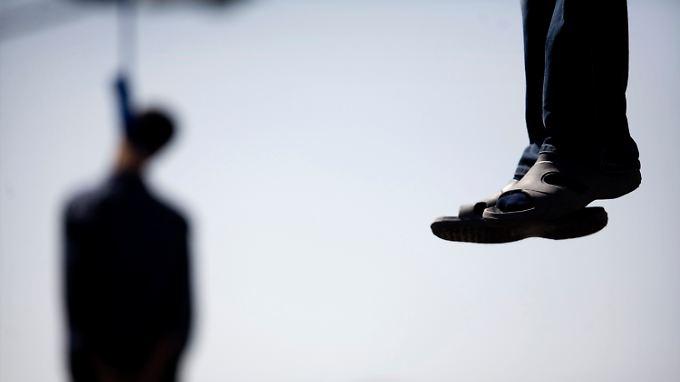 Im Iran werden Verurteilte in der Regel durch Erhängen getötet.