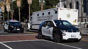 Um die Wege von A nach B zu erledigen ist ein Elektroauto auch für Polizisten des LAPD tragbar.