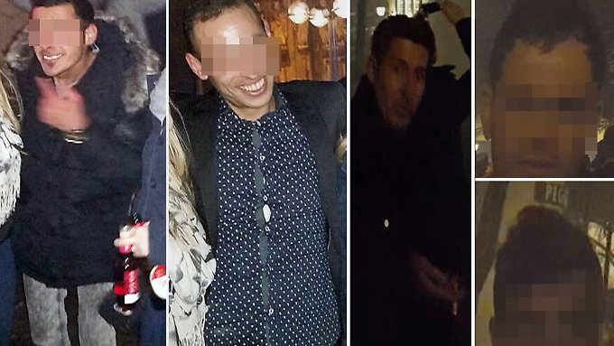Diese fünf Männer stehen im Verdacht, Frauen belästigt und bestohlen zu haben.