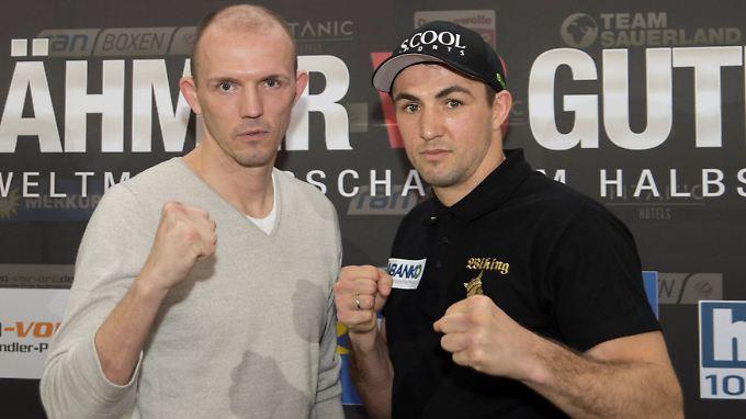 Treten nach einer dreijährigen Pause wieder gegeneinander an: WBA-Weltmeister Jürgen Brähmer und Herausforderer Eduard Gutknecht.